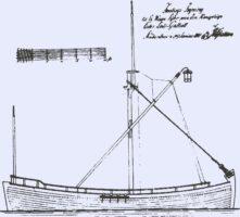 Seitenriss der 1807 gebauten ersten