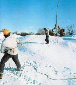Der Schneewinter 1978/79 forderte von den Schleswag-Mitarbeitern vollen Einsatz. Erstmals zeigte sich, daß inzwischen ohne Strom im Lande nichts mehr lief