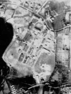 """Luftbild des """"AEL Normark"""" aus dem Jahr 1945."""