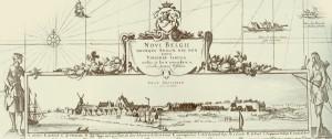 Neu-Amsterdam auf einer Karte von 1655