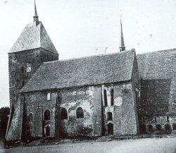 Der Meldorfer Dom vor der Restaurierung etwa um 1865