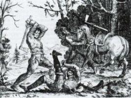 Bauernrache - Szenen aus dem Soldatenleben. Auch wenn das Bild von Hans Ulrich Franck von 1643 nicht aus Schleswig und Holstein stammt, illustriert es doch die auch hier verbreitete Verbitterung der Bauern gegen die Söldnerheere, die im Dreißigjährigen Krieg