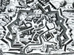 Tönning während der Belagerung durch die Dänen