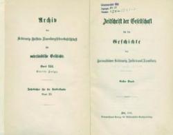 """Seit 1850 erscheint die """"Zeitschrift der Gesellschaft für Schleswig-Holsteinische Geschichte"""""""