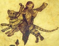 Nachtfahrende Frauen: Ausmalungen aus dem Schleswiger Dom. Nach dem Lübecker Bußbuch von 1498 werden solche Frauen noch als helfende Wesen gesehen.