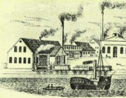 Das Dampfschiff, die Eisenbahn und rauchende Schornsteine waren die Symbole des Industriezeitalters