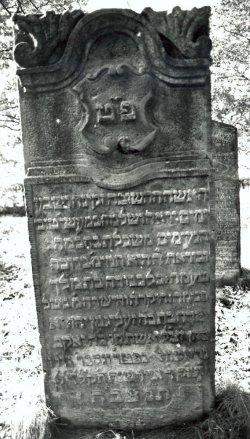 Grabstein der Gitel Sara Grothwohl von 1774 auf dem jüdischen Friedhof in Westerrönfeld