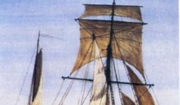 """""""Die Jungfer Anna"""" unter Vollzeug. Die """"Schmack"""" ist ein typischer Flachwassersegler und wurde Ende des 18. Jahrhunderts für die Küstenschiffahrt in den Niederlanden entwickelt"""