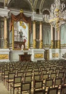 Blick in die Aula der ehemaligen Marineakademie 1904 ...