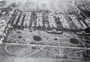 Luftbild vom Barackenlager