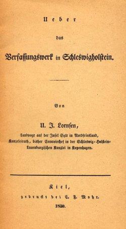 Das Titelblatt der bei Mohr gedruckten Ausgabe