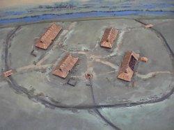 Modell der Süderbusenwurth in Dithmarschen um 150 nach Christi Geburt