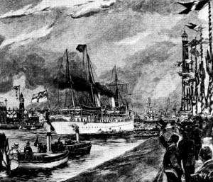 Zeitgenössisches Bild zur Kanaleröffnung
