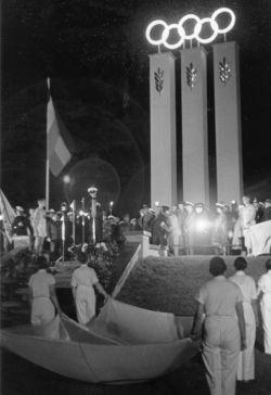 Eröffnungsfeier der Segelolympiade in Kiel 1936
