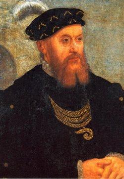 Christian III. (1503 - 1559), Herzog von Schleswig und Holstein 1533, König von Dänemark 1534 auf einem Gemälde von Jost Verheiden