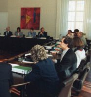 Konstituierende Sitzung des 1. Parlamentarischen Untersuchungsausschuß der 13. Wahlperiode, dem sogenannten