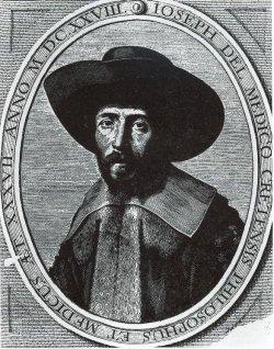 Abbildung von 1629 des Joseph Salomo Delmedigo. Der sephardische Arzt, Philosoph, Mathematiker, Astronom, Naturwissenschaftler und Rabbiner verbrachte drei Jahre seines bewegten Lebens (1625 - 1628) in Glückstadt