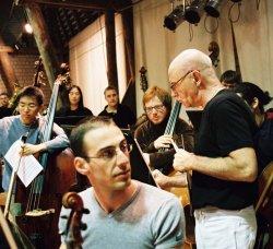 Probe der Orchesterakademie mit Christoph Eschenbach in der Scheune in Salzau