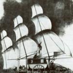 Die französische Kutsche mit Segeln. Eine der Ideen des 19. Jahrhunderts, Windkraft auf dem Land kommerziell zu nutzen