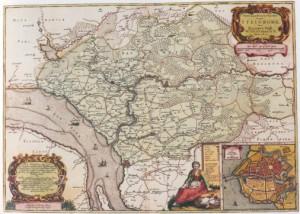 Karte des Amtes Steinburg, 1651 von Johannes Meyer