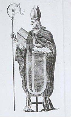 Vicelin. Kupferstich 1590 nach einem verlorenen älteren Bild