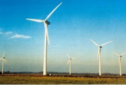 Der Bürgerwindpark bei Sprakebüll in Nordfriesland entstand 1998. Er kostete 16 Millionen Mark. Davon entfielen 1,7 Millionen Mark auf die notwendigen 12 Kilometer Kabeltrassen sowie den Neubau eines Umspannwerkes, um die 3.000 Megawattstunden jährlich produzierter Leistung in das Netz leiten zu können