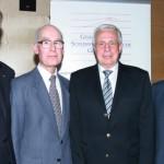 Für das Album: Vorsitzender Jörg-Dietrich Kamischke mit den Ehrenmitgliedern Prof. Dr. Wolfgang Prange, Prof. Dr. Jürgen Miethke, sowie Dr. Hans Rothert