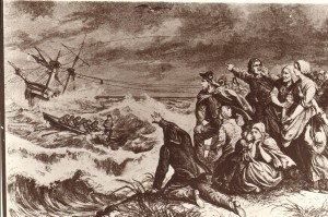 Das Drama einer Strandrettung wie es in den 1860er Jahren dargestellt wurde