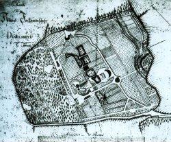 Karte der königlichen Forstbaumschule Düwelsbek bei Kiel